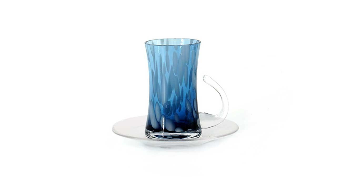 Coupe Istikana Set Of 6 Blue  data-src=