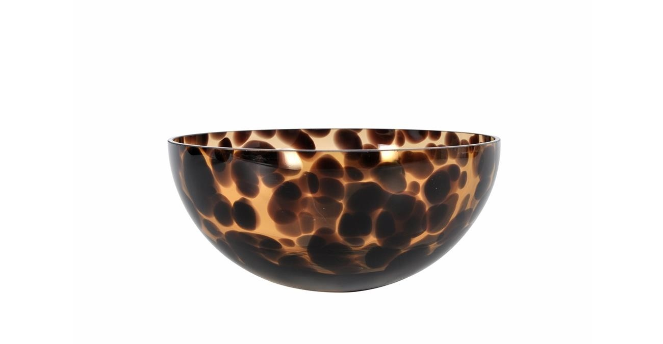 Coupe Serving Bowl Glass 22.4 cm Brown  data-src=