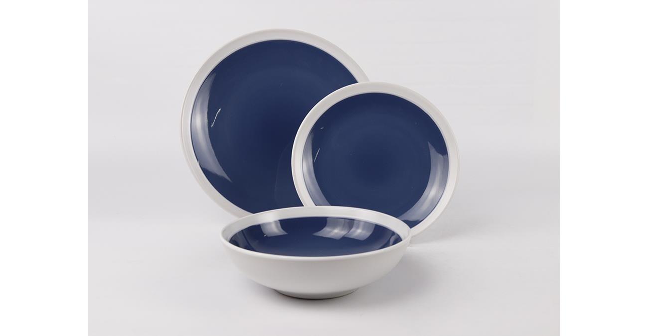 Elipse 18Pc Stoneware Dinner Set Darkblu  data-src=