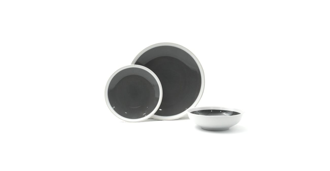 Elipse 18Pc Stoneware Dinner Set Grey  data-src=