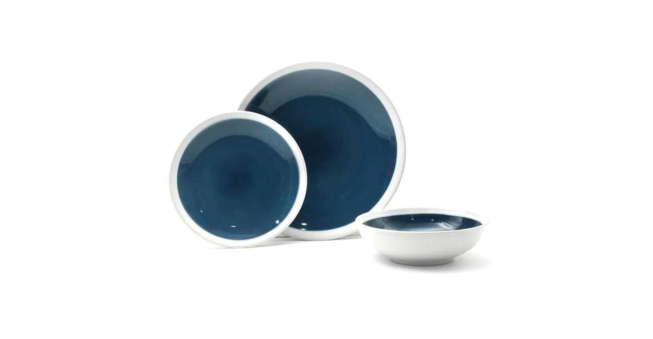 Elipse 18Pc Stoneware Dinner Set Teal  data-src=