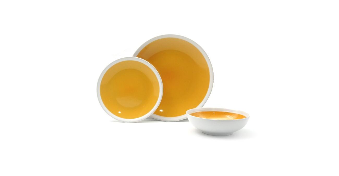 Elipse 18Pc Stoneware Dinner Set Mustard  data-src=