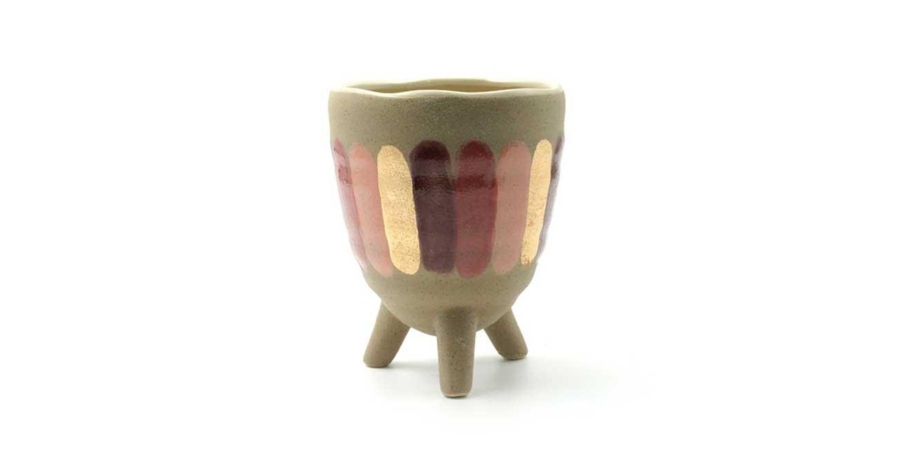 Vexana Vase Gold 14.2 cm  data-src=