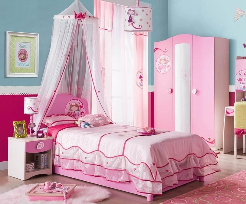 Cilek Sl Princess Pink Kids Bedroom Set  data-src=