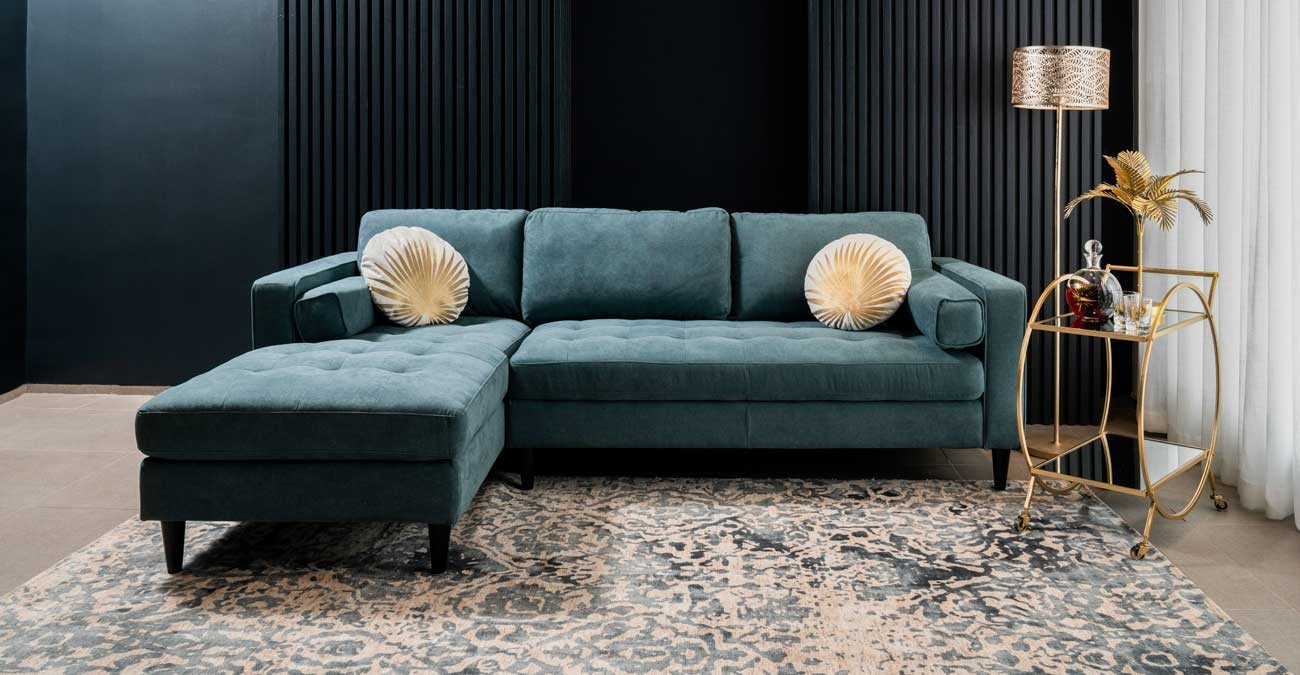 Prenton Corner Sofa Green  data-src=