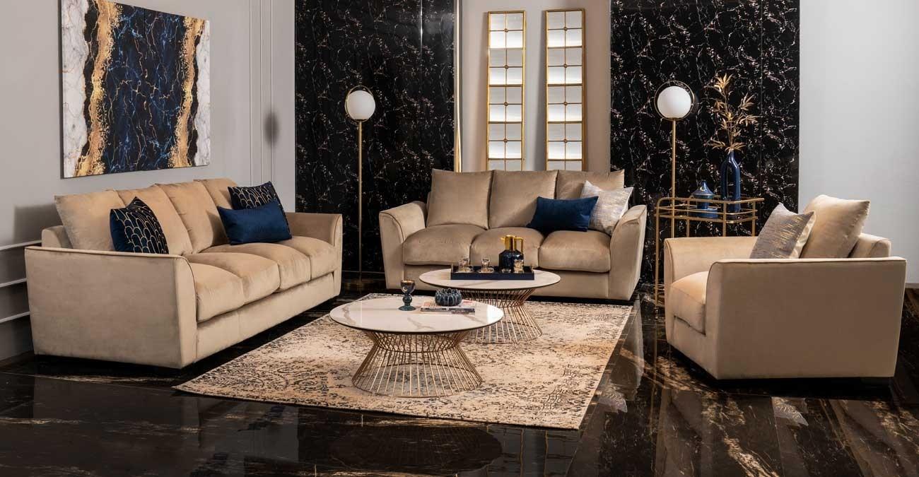 Sivado Sofa Set Dark Brown  data-src=