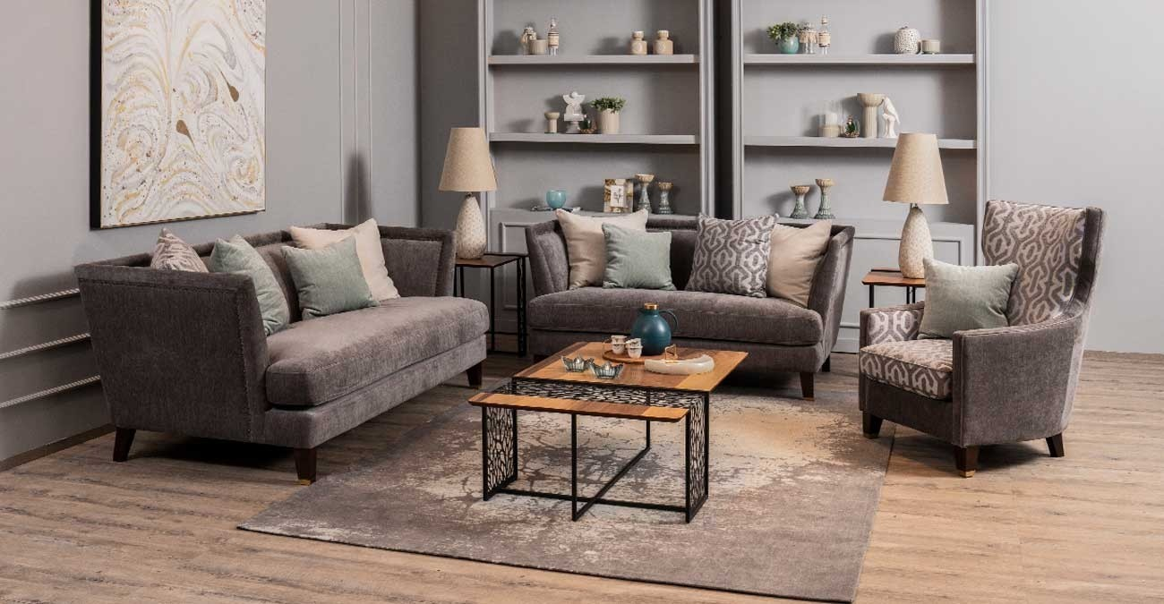 Derlo Sofa Set Grey  data-src=