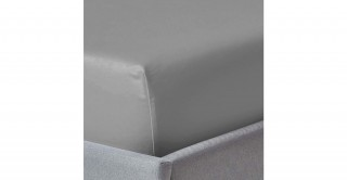 250Tc Plain Silver 120X200 Fitted Sheet