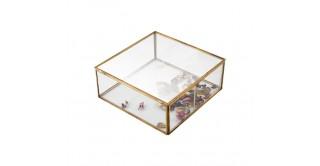 Brass Edge Storage Box, Gold