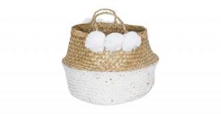 Belly Basket With Pompoms