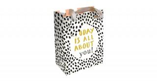 Gift Bag - Hey You - Gold Foil - Large