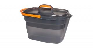 4 Gallon Rectangular Bucket Grey