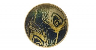 Feather Round Wall Art