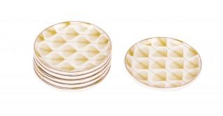 Cora  6Pcs Sweet Plate White