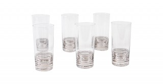 Uvan 6 Piece 450Ml High Ball Glass Silver