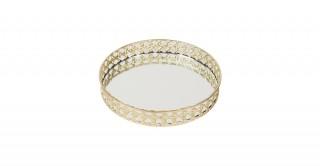 Maxi Decorativerative Tray Gold And Clear 26 cm
