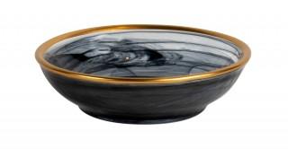 Alabaster Recellik Black Gold Rim 9.4 cm
