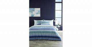 Stripe 260x240 Printed Comforter Set