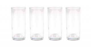 Tusca 4pcs Clear Tall Glass, 380ml