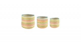 Felicity Hand-Woven Baskets, Set Of 3