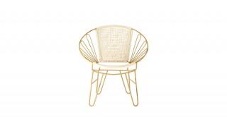 """Sandra 25""""W X 16""""D X 29""""Metal Chair"""