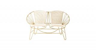 """Sandra 45""""W X 16""""D X 27"""" Metal Chair"""