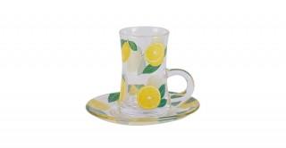 Lemons 6Pcs Istikana Yellow 130Ml