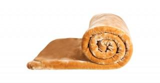 Soft 2-Ply Blanket Beige 160X220Cm 3.5Kg