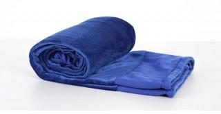 Soft Fleece Bed Throw Blue 130X170Cm