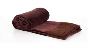 Soft Fleece Bed Throw Brown 130X170Cm