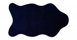 Solid Lux Faux Fur Shape Rug Blue 90X150