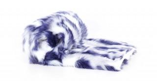 Shaggy Faux Fur Throw Blue 150X170Cm