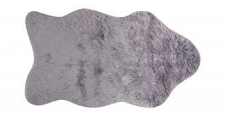 Mongolian Faux Fur Shape Rug Grey 90X150