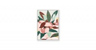 Dahlia Framed Art Pink 80X120Cm