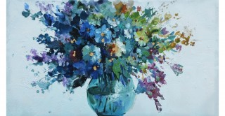 Floral Handmade Oil Painting 50X100Cm