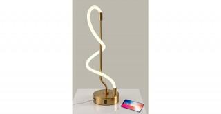 Spiral Table Lamp With USB Plug