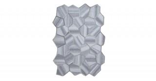 Aries 100%Wool Asymetricalrug Gry170 x 240