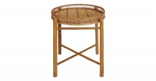 Rattan Storage Side Table Natural