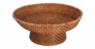 Fruit Pedestal Bowl Antique Brown