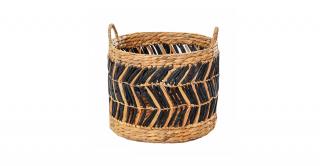 Zig Zag Round Basket Set 2
