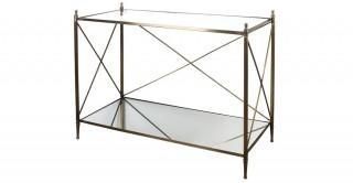 Sofia Mirror Cross Bar Console Table