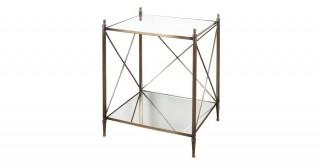 Sofia Mirror Cross Bar 2-Tier Side Table