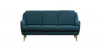 Boucle Teal Fabric Upholstered Sofa