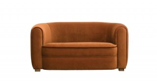 Ginger Velvetsaffron Upholstered Sofa