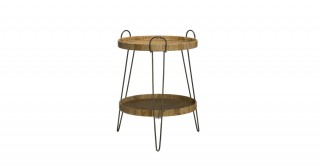 Cottage  2-Tier Rattan Tray With Stand