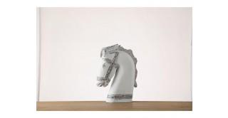 Yna Horse Sculpture 44 cm White