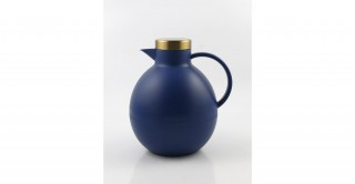 Alba Jug 1L Blue With Gold Round Lid