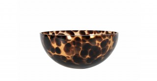 Coupe Serving Bowl Glass 22.4 cm Brown