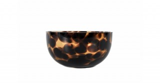 Coupe Serving Bowl Glass 12 cm Brown