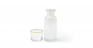 Richmond Carafe Clear WithRim Gold 300Cc